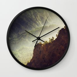 Long Way Down - Caldera de Taburiente - La Palma Wall Clock