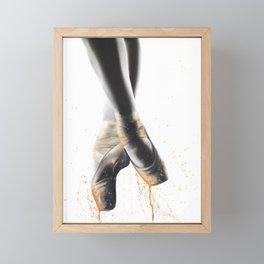 Peach Ballet Shoes Framed Mini Art Print