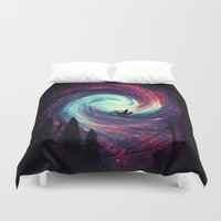 bicycle Duvet Covers featuring Adventure Awaits by nicebleed