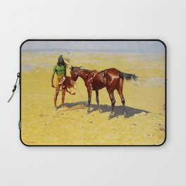 "Frederic Remington Western Art ""Hunted Down"" Laptop Sleeve"