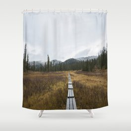 Road to Ergaki Shower Curtain