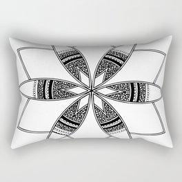 Simple black mandala on white Rectangular Pillow