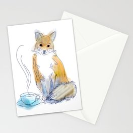 Foxy Tea Stationery Cards