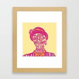 Love Oneself for a Lifelong Romance Framed Art Print