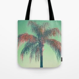 Red palm tree Tote Bag