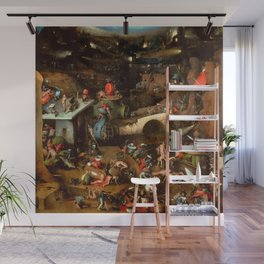 "Hieronymus Bosch ""The Last Judgement"" triptych (Vienna) central panel Wall Mural"