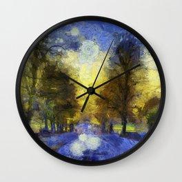 Greenwich Park London Van Gogh Wall Clock
