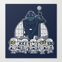 minions Canvas Prints featuring Stormtrooper Minions by Hugo Martin