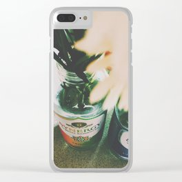 Flowers of Fall Clear iPhone Case