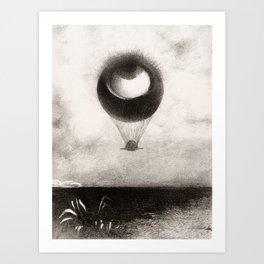 Olion Redon Eye Balloon Illustration Art Print