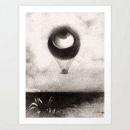 Olion Redon Eye Balloon Illustration Art Print