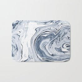 Kiyomi - spilled ink japanese monoprint marble paper marbling art print cell phone case with marble Bath Mat
