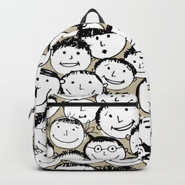 Crowd of funny people Backpack