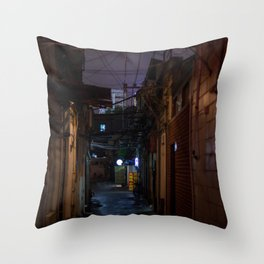 Lilac alley Throw Pillow