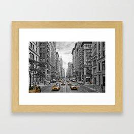 5th Avenue NYC Traffic Framed Art Print