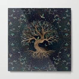 Tree of Life - Yggdrasil Metal Print