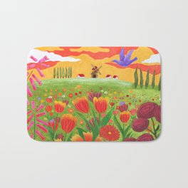 Flowers field Bath Mat