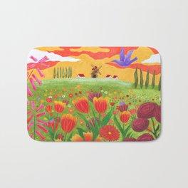 Flowers field Bath Mat