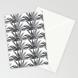 Abstract Palm Leaves in black and white Stationery Cards