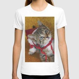 Cat Portrait   Christmas T-shirt