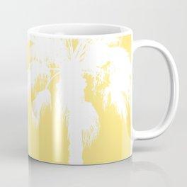 Palm Silhouettes On Yellow Coffee Mug