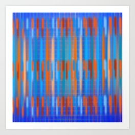 Stripes Soft and Crisp Art Print