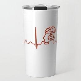 Psychiatrist Heartbeat Travel Mug