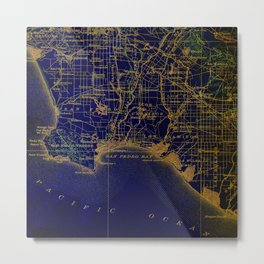 Bay 1904 Map Metal Print