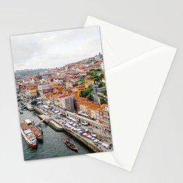 Beautiful Porto. Ribeira area and the Douro River. Stationery Cards