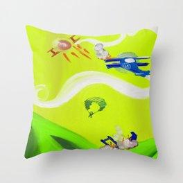 Aerial Battle Throw Pillow