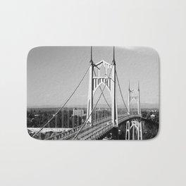 St. John's Bridge Portland Oregon Northwest steel suspension Cathedral Park Bath Mat