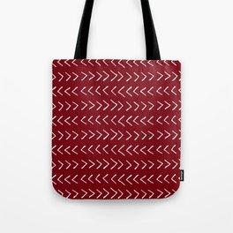 Arrows on Maroon Tote Bag