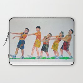 Happy with friends Laptop Sleeve