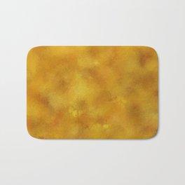 Yellow orange batic look. Bath Mat