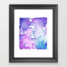 blue wash Framed Art Print