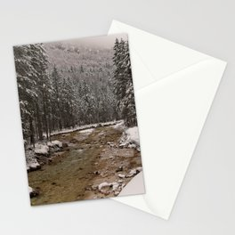 Wintry Sava River At Vrata Valley Stationery Cards