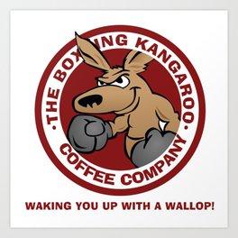 Boxing Kangaroo Coffee Company Art Print