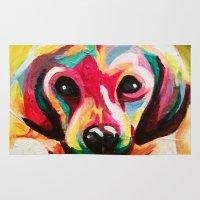 puppy Area & Throw Rugs featuring Puppy by stepanka hejlova