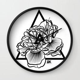 geometric flower design Wall Clock