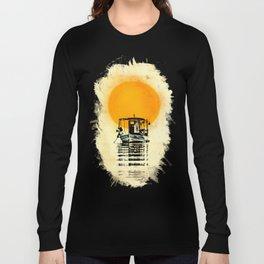 Sunset Boat Silhouette Long Sleeve T-shirt