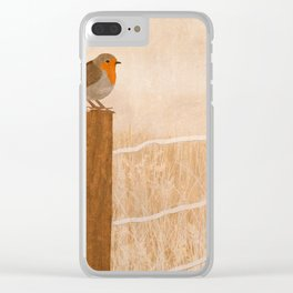 Robin Waiting Clear iPhone Case
