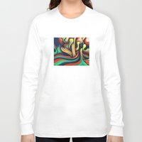 waterfall Long Sleeve T-shirts featuring Waterfall by Graham Matthews