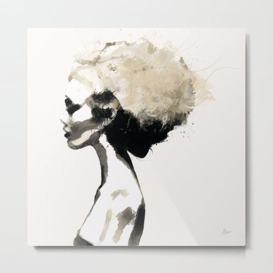 Serene - Digital fashion illustration / painting Metal Print