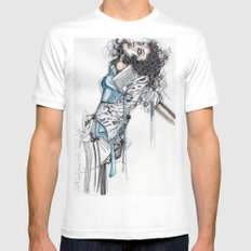 State of Undress Mens Fitted Tee White MEDIUM