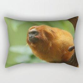 Orange Monkey Photography Print Rectangular Pillow