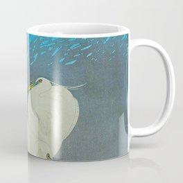 Ohara Shoson Egrets Japanese Woodblock Print Vintage Historical Japanese Art Coffee Mug
