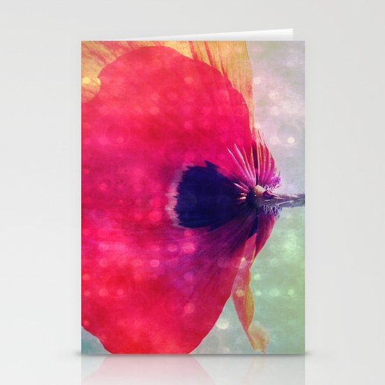 Mod Poppy Stationery Cards