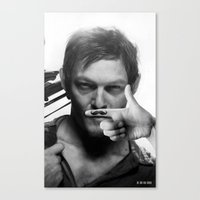 daryl Canvas Prints featuring Daryl  by Adel