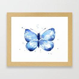 Butterfly Watercolor Blue Butterflies Framed Art Print