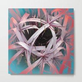 Ribbons of Life: Abstract Design Metal Print
